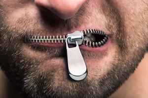 Zipped mouth