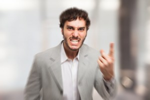 Portrait of a very angry man